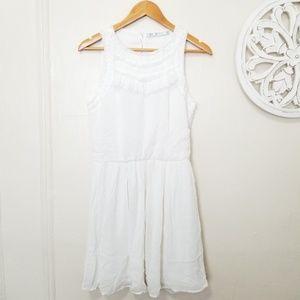Zara size M ruffle front dress